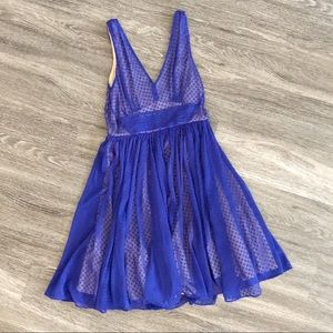 Blue fit and flare dress *Anthropologie* size 4